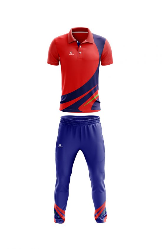 Printed cricket uniform