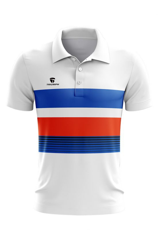 Polyester Printed Polo neck Tennis Jersey