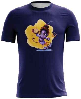 Mahadev Sibling Printed Casual T-shirt Blue
