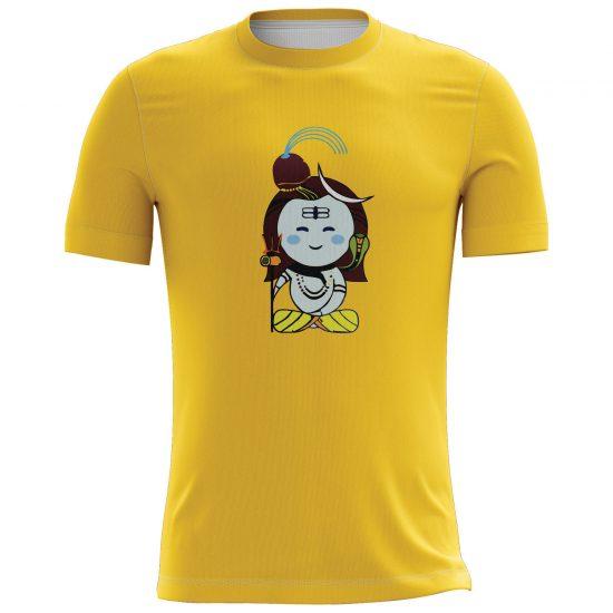 Shiva's Design Printed Casual T-shirt Yellow