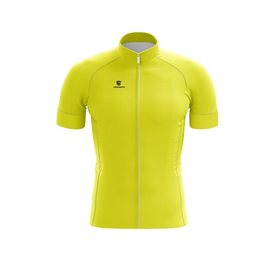 Men's Polyester Printed Cycling Team Clothing Light Yellow