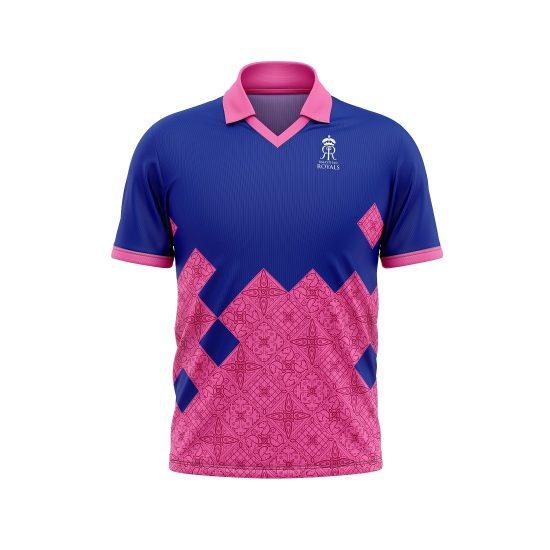 Men RR Jersey IPL Jersey 2021 Rajasthan Royals Cricket Team Jersey T20