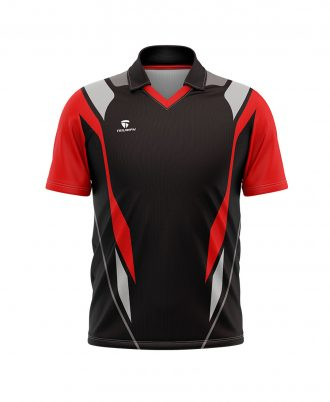 Cricket Half Sleeve Polo Neck Printed Jersey of for Men