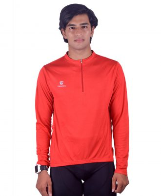 Full Sleeve Cycling Jersey With Half Zipper